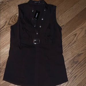 Express chocolate brown tank top blouse size Small